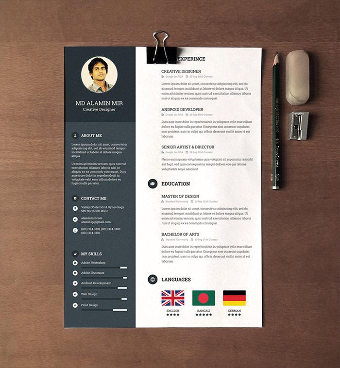 30 Free Beautiful Resume Templates to Download - Hongkiat