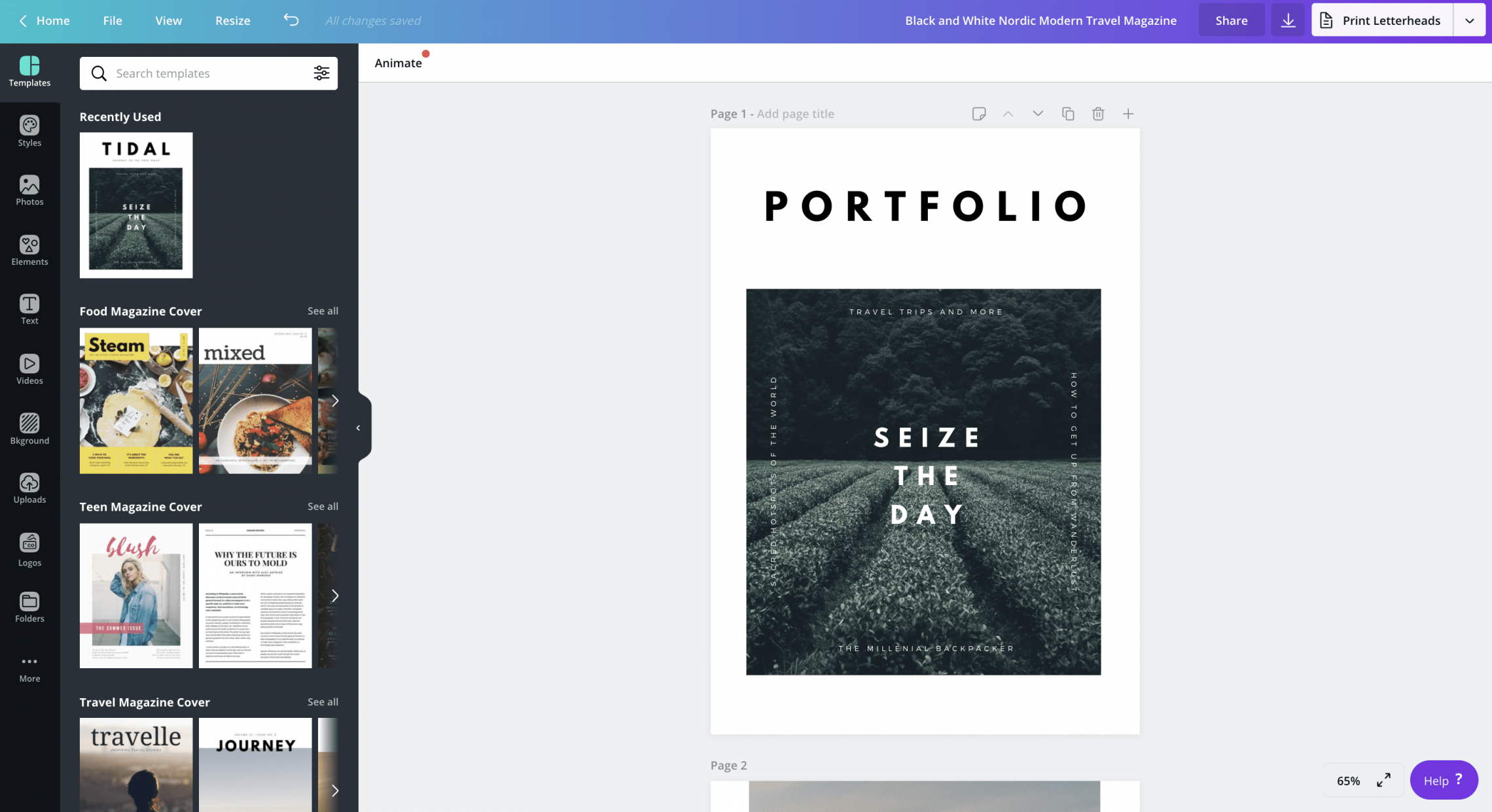 How to make a portfolio | Canva